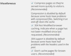 Do not cache for known users